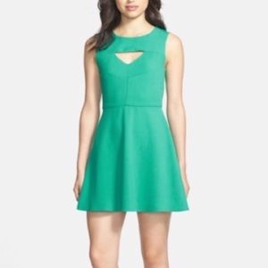French Connection Keyhole Fit N Flare Mini Dress 6
